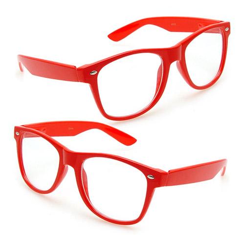 brille ohne st rke style clear fensterglas rot nerdbrille. Black Bedroom Furniture Sets. Home Design Ideas