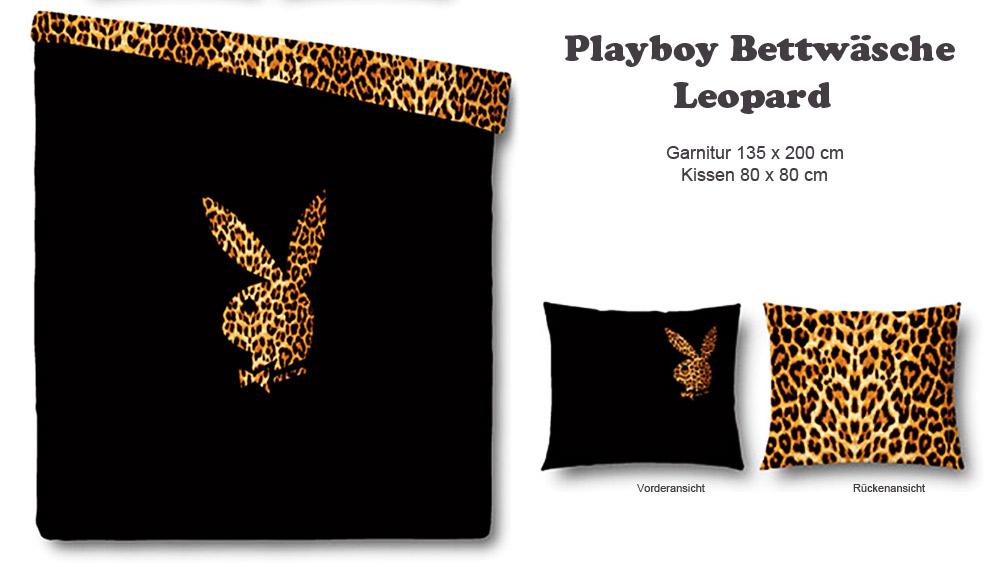 Original Playboy Satin Wende Bettwäsche Leopard Bettgarnitur Set