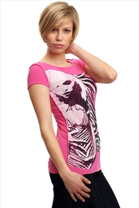 Amplified Blondie T-Shirt Longshirt PINK Strass