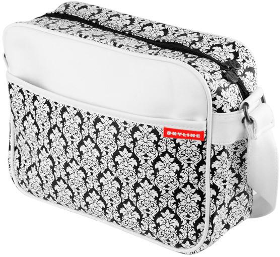 3ba3fc84d2093 Skyline Retro Bag Umhängetasche mit Barock Muster Weiß - Charliepunk ...
