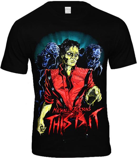 Michael Jackson T Shirt Thriller Logo Zombie Official Black