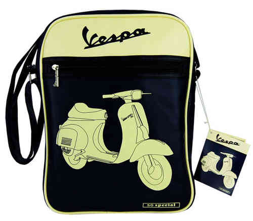 VESPA 50 SPECIAL Flight Bag Schultertasche Tasche Navy