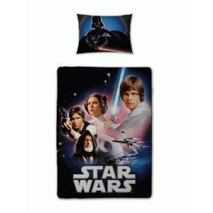 Star Wars 80er Retro Movie Bettwäsche Garnitur Luke Skywalker Decke