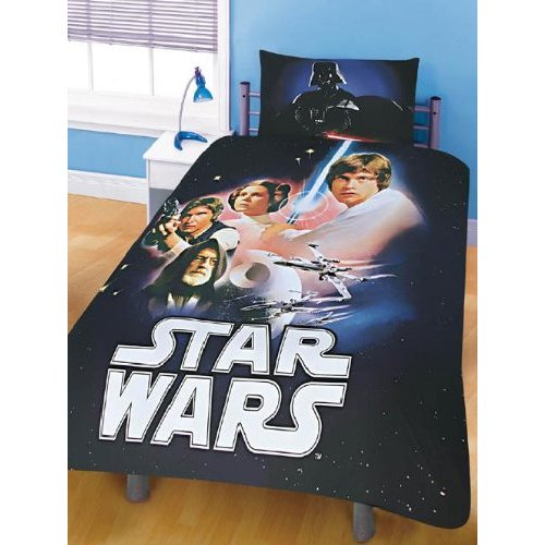 star wars 80er retro movie bettw sche garnitur luke skywalker decke kissen darth vader. Black Bedroom Furniture Sets. Home Design Ideas