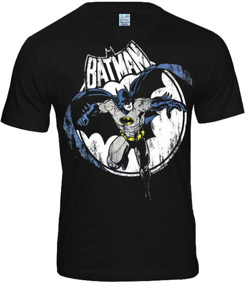 detailed pictures db867 1a809 LOGOSH!RT Retro Herren T-Shirt BATMAN FULL MOON