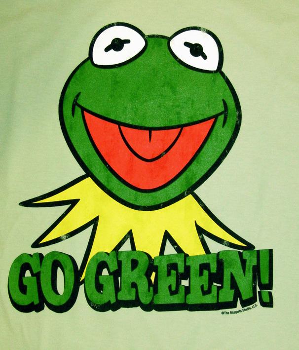 18cfaf6695982b LOGOSH!RT - MUPPETS Retro TV Movie Damen T-Shirt - KERMIT GO GREEN ...