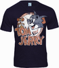 TOM AND JERRY Retro Comic Herren T-Shirt VINTAGE LOGO