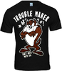 TAZMANIA Looney Tunes Retro Comic Herren T-Shirt TROUBLE MAKER