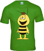 LOGOSH!RT - BIENE MAJA Retro Comic HERREN T-Shirt - WILLI - LIGHT OLIV