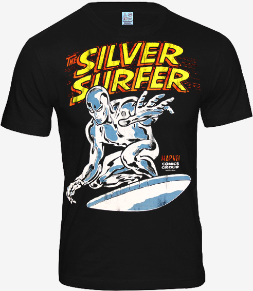 marvel superhelden comic herren t shirt silver surfer kaufen. Black Bedroom Furniture Sets. Home Design Ideas