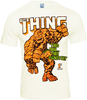 LOGOSH!RT - MARVEL Retro Comic Herren T-Shirt - THE THING - ALMOST WHITE