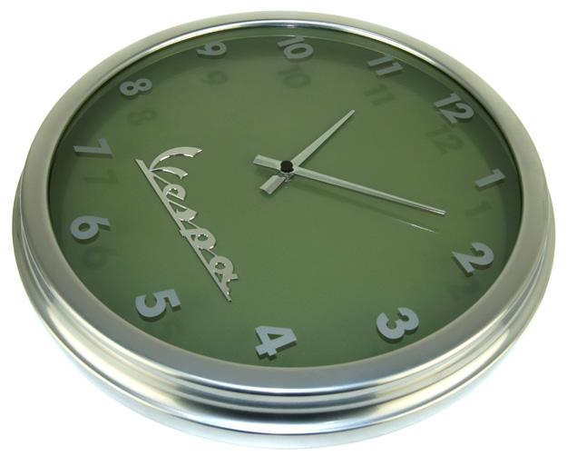 VESPA WANDUHR große Designer Uhr Metallgehäuse