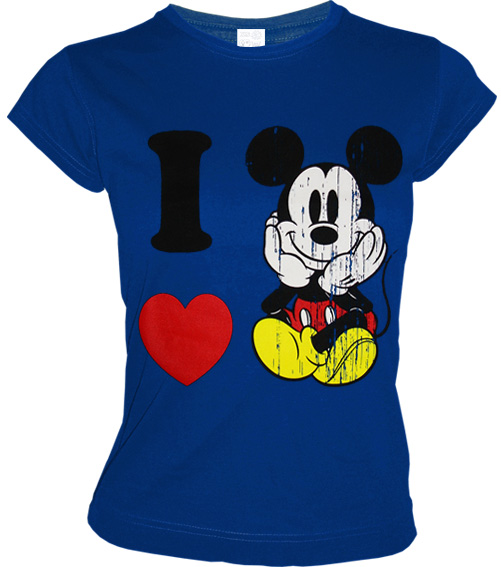 i love mickey mouse disney retro comic damen long shirt. Black Bedroom Furniture Sets. Home Design Ideas
