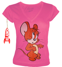 Tom and Jerry Comic Damen T-Shirt - SHY JERRY