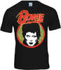 DAVID BOWIE Herren Fan T-Shirt SCHWARZ