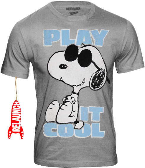 info for b61fe 2e76f RELAUNCH Peanuts Retro Comic Herren T-Shirt SNOOPY PLAY IT COOL - SPORTS  GREY