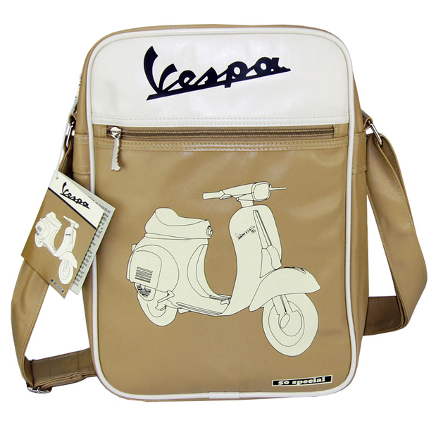 vespa flight bag tasche umh ngetasche 50 special beige creme. Black Bedroom Furniture Sets. Home Design Ideas
