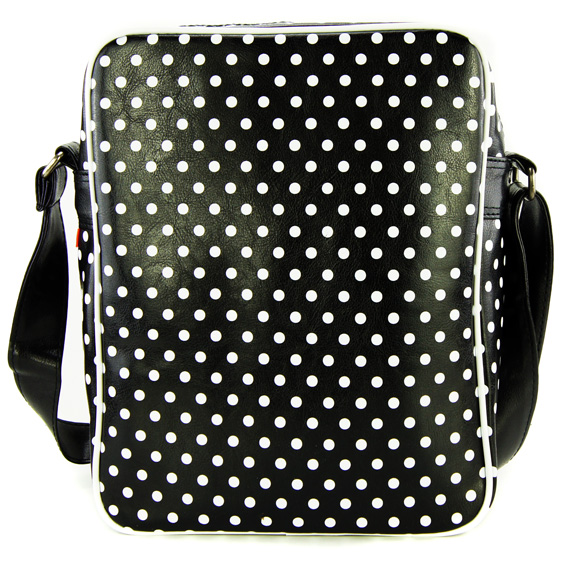 skyline retro polker dot tasche rockabilly handtasche mit. Black Bedroom Furniture Sets. Home Design Ideas