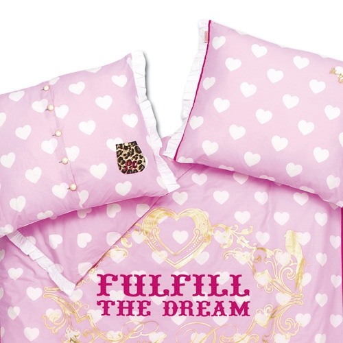 little diva luxus bettw sche bettgarnitur herzmuster rosa. Black Bedroom Furniture Sets. Home Design Ideas