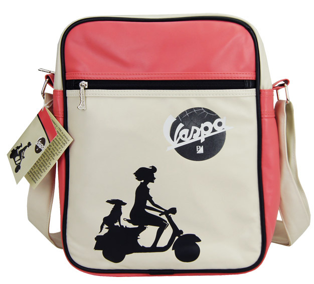 vespa flight bag tasche umh ngetasche hund rosa retro. Black Bedroom Furniture Sets. Home Design Ideas