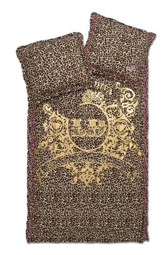 little diva luxus bettw sche bettgarnitur im leopard mit. Black Bedroom Furniture Sets. Home Design Ideas