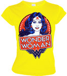 DC Comics Damen T-Shirt WONDER WOMAN PORTRAIT gelb