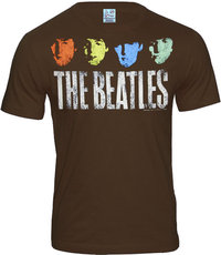 LOGOSH!RT Retro Herren T-Shirt THE BEATLES FACES