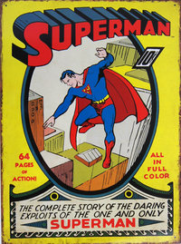 SUPERMAN DC Comics Blechschild COMIC Cover FLYING