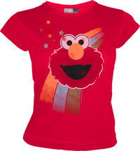 SESAME STREET Retro Damen T-Shirt ELMO RAINBOW