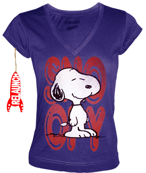 relaunch peanuts retro comic damen t shirt snoopy smiles. Black Bedroom Furniture Sets. Home Design Ideas