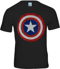 Marvel Herren T-Shirt CAPTAIN AMERICA LOGO - ANTHRAZIT