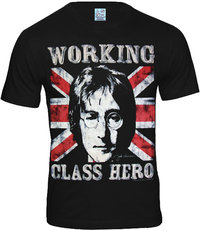 LOGOSH!RT The Beatles Retro Herren Shirt WORKING CLASS HERO