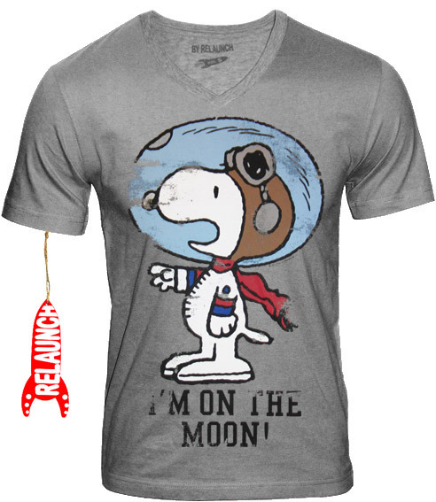 new arrivals a2c3b 06f61 RELAUNCH Peanuts Herren T-Shirt SNOOPY I'M ON THE MOON