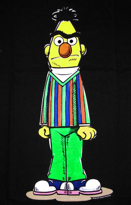 Sesame Street Comic Tv Herren T Shirt Angry Bert Schwarz