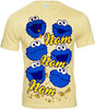 COOKIE MONSTER Krümelmonster Herren T-Shirt NOM NOM NOM