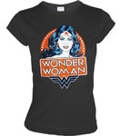 LOGOSH!RT Wonder Woman Retro Girl T-Shirt PORTRAIT