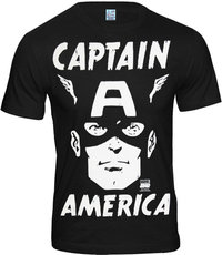 LOGOSH!RT Retro Herren T-Shirt CAPTAIN AMERICA FACE