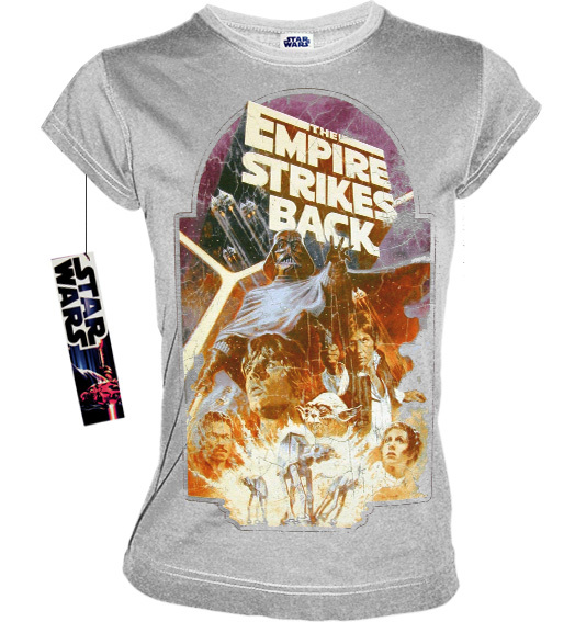 STAR WARS Retro Damen T Shirt EMPIRE STRIKES BACK