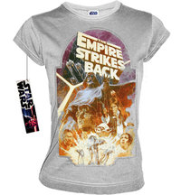STAR WARS Retro Damen T-Shirt EMPIRE STRIKES BACK