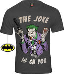 BATMAN The Joker Comic Herren Shirt JOKE IS ON YOU