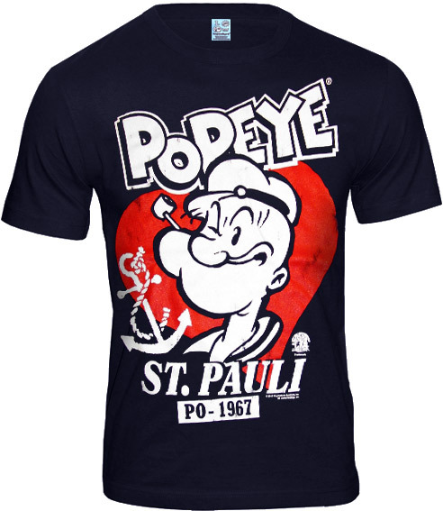 logoshirt retro comic herren t shirt popeye st pauli. Black Bedroom Furniture Sets. Home Design Ideas
