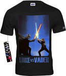 STAR WARS Retro Movie Herren T-Shirt LUKE VS VADER