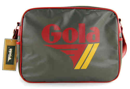 GOLA REDFORD Tasche Bag Darkgrey/Red/Mustard