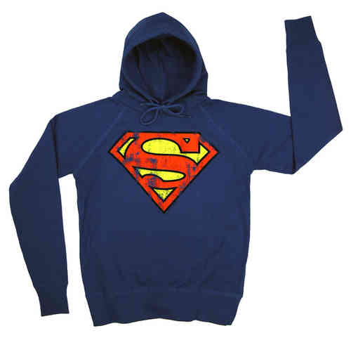 LOGOSH!RT Retro Herren Hoody SUPERMAN