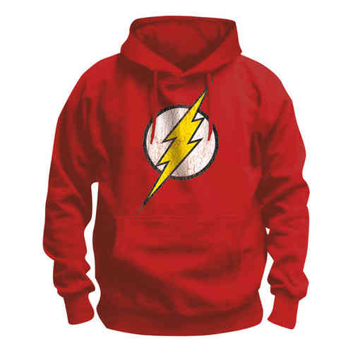JUSTICE LEAGUE Retro Herren Hoody FLASH LOGO
