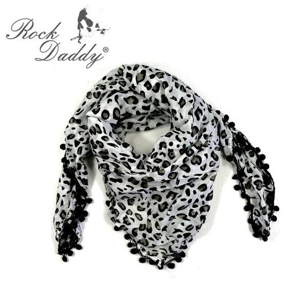 rock daddy halstuch leoparden muster schwarz wei. Black Bedroom Furniture Sets. Home Design Ideas