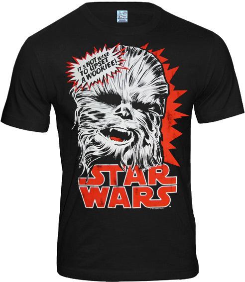 Logosh Rt Star Wars Herren T Shirt Chewbacca Schwarz