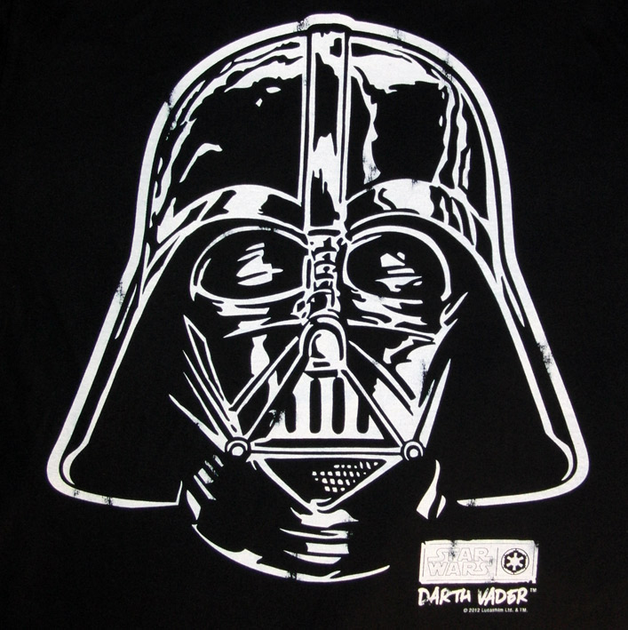 logosh rt star wars herren t shirt darth vader face schwarz. Black Bedroom Furniture Sets. Home Design Ideas