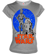 LOGOSH!RT Star Wars Damen T-Shirt DROIDS