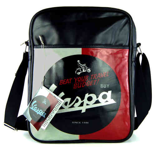VESPA Tasche BEAT YOUR TRAVEL BUDGET Schwarz Hoch